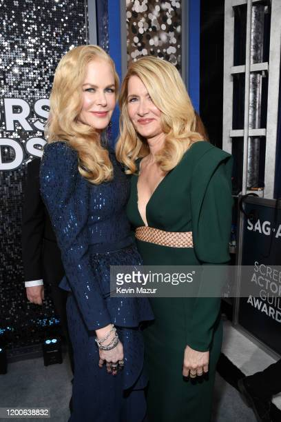 Nicole Kidman and Laura Dern attend the 26th Annual Screen Actors Guild Awards at The Shrine Auditorium on January 19 2020 in Los Angeles California...