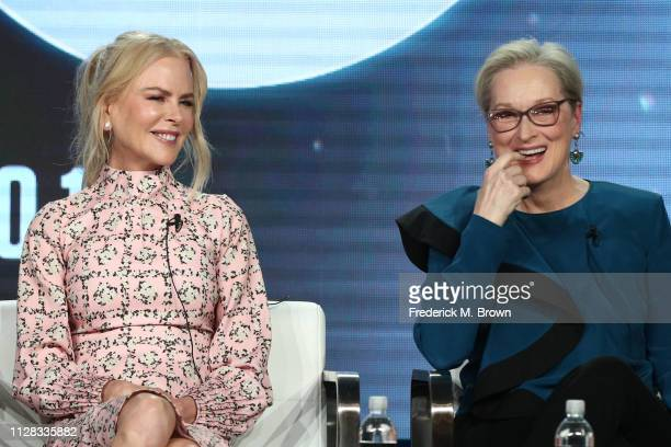 Nicole Kidman and Meryl Streep of the Season Two series 'Big Little Lies' appear onstage during the HBO segment of the 2019 Winter Television Critics...