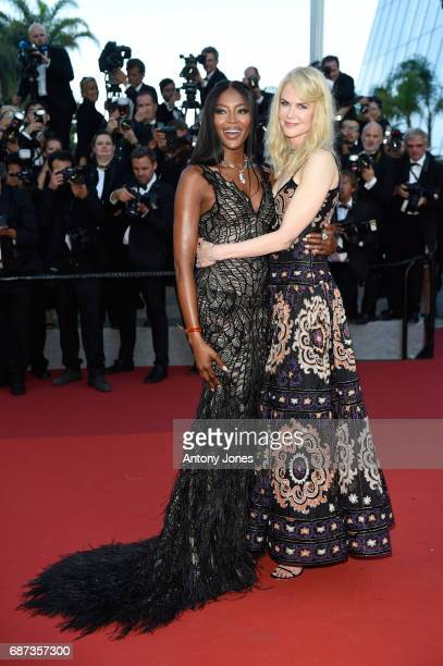Nicole Kidman and Naomi Campbell attend the 70th Anniversary screening during the 70th annual Cannes Film Festival at Palais des Festivals on May 23...