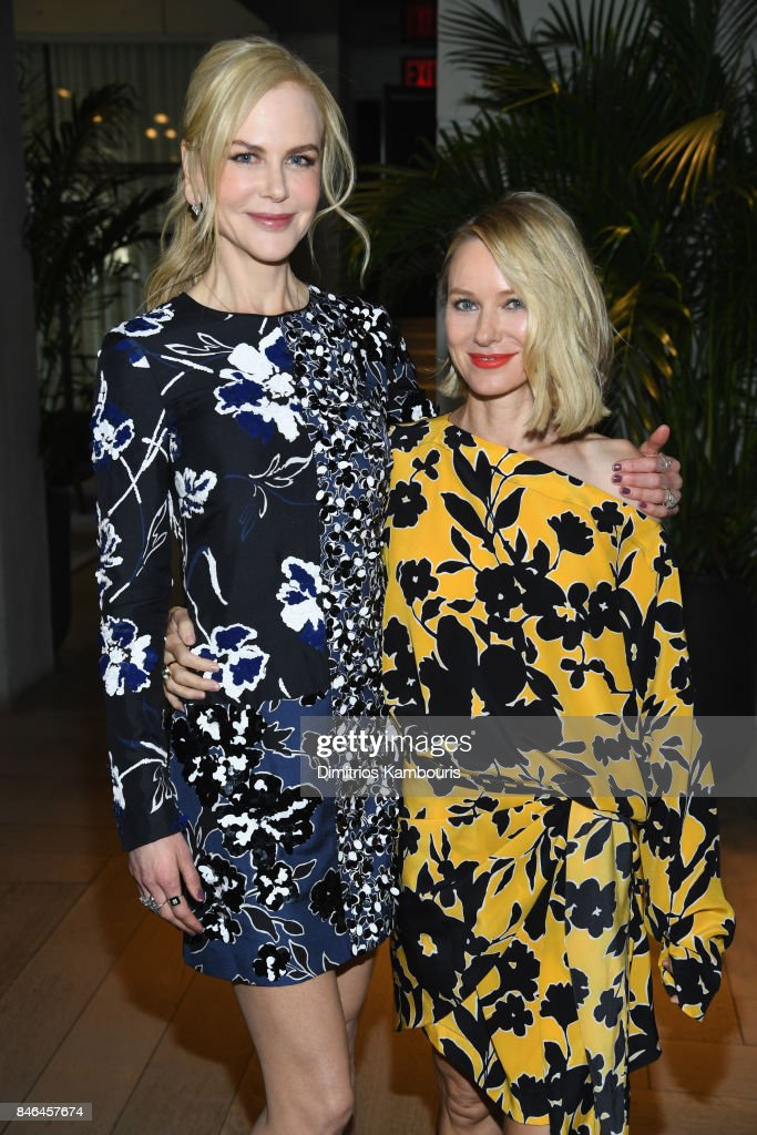 Nicole Kidman and Naomi Watts pose backstage at Michael Kors Collection Spring 2018 Runway Show at Spring Studios on September 13, 2017 in New York City.