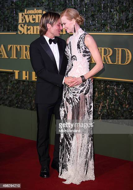 Nicole Kidman and Nicole Kidman attends the Evening Standard Theatre Awards at The Old Vic Theatre on November 22 2015 in London England