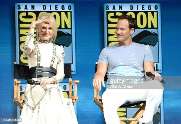 Nicole Kidman and Patrick Wilson speak onstage at the Warner Bros 'Aquaman' theatrical panel during ComicCon International 2018 at San Diego...