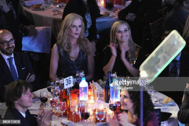 Nicole Kidman and Reese Witherspoon attend The 2017 IFP Gotham Independent Film Awards cosponsored by FIJI Water at Cipriani Wall Street on November...