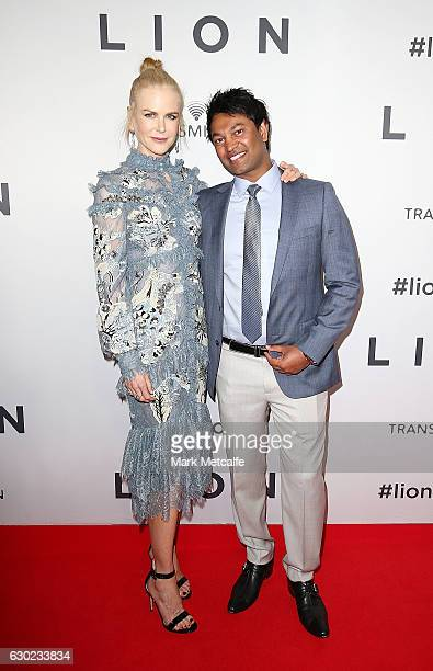 Nicole Kidman and Saroo Brierley arrive ahead of the Australian premiere of LION at State Theatre on December 19 2016 in Sydney Australia