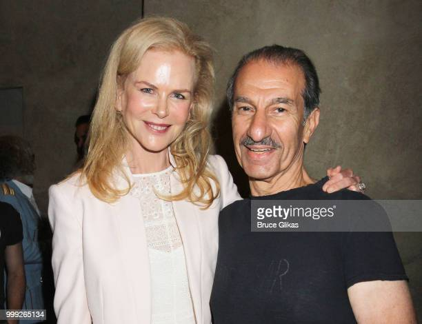 Nicole Kidman and Sasson Gabay pose backstage at 'The Band's Visit' on Broadway at The Barrymore Theatre on July 14 2018 in New York City