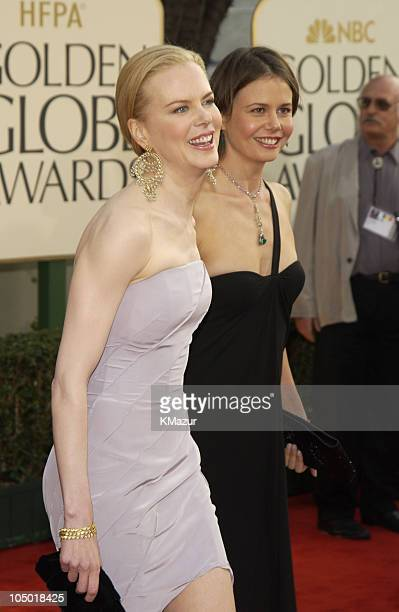 Nicole Kidman and sister Antonia Kidman during The 60th Annual Golden Globe Awards Arrivals at The Beverly Hilton Hotel in Beverly Hills California...