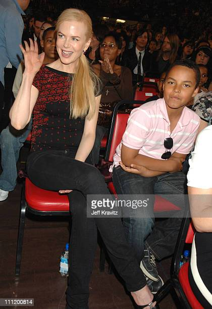 Nicole Kidman and son Connor during Nickelodeon's 20th Annual Kids' Choice Awards Audience and Backstage at Pauley Pavilion UCLA in Westwood...