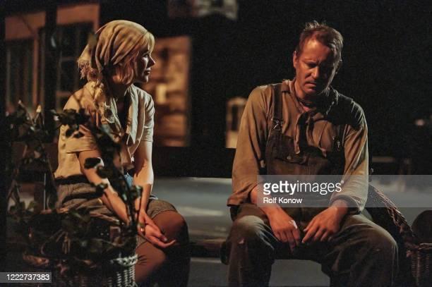 Nicole Kidman and Stellan Skarsgard in Dogville directed by Lars von Trier Sweden 2002