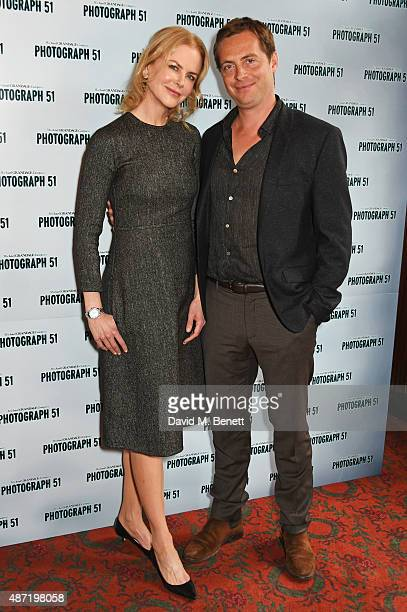 Nicole Kidman and Stephen Campbell Moore pose at a photocall for the Michael Grandage Company's production of Photograph 51 at the Noel Coward...