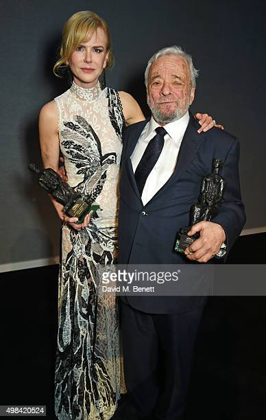 Nicole Kidman and Stephen Sondheim attend The London Evening Standard Theatre Awards after party in partnership with The Ivy at The Old Vic Theatre...