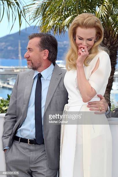 """Nicole Kidman and Tim Roth attend the photocall for """"Grace of Monaco"""" at the 67th Annual Cannes Film Festival on May 14, 2014 in Cannes, France."""