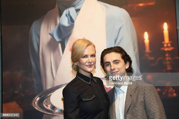 Nicole Kidman and Timothee Chalamet at The New York Times Magazine Celebrates 'The Great Performers Issue' 2017 on December 7 2017 in Los Angeles...