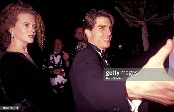 Nicole Kidman and Tom Cruise during 63rd Annual Academy Awards After Party at Spago's Hosted by Swifty Lazar at Spagos in West Hollywood California...