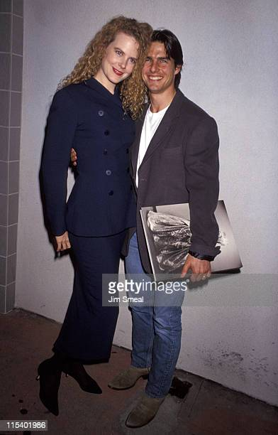 Nicole Kidman and Tom Cruise during Herb Ritts Exhibition Opening October 22 1992 at Fahey/Klein Gallery in West Hollywood California United States