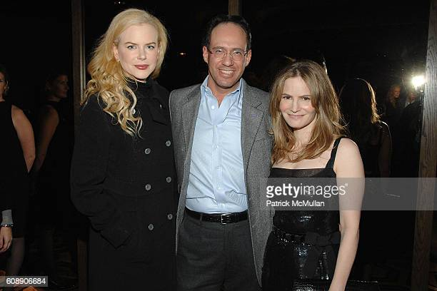 Nicole Kidman Andrew Saffir and Jennifer Jason Leigh attend THE CINEMA SOCIETY and LINDA WELLS host a screening of MARGOT AT THE WEDDING at Tribeca...