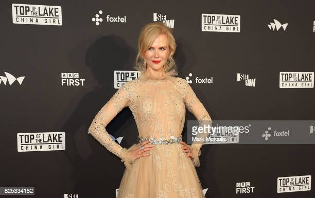 Nicole Kidman arrives ahead of the Top of the Lake China Girl Australian Premiere at Sydney Opera House on August 1 2017 in Sydney Australia