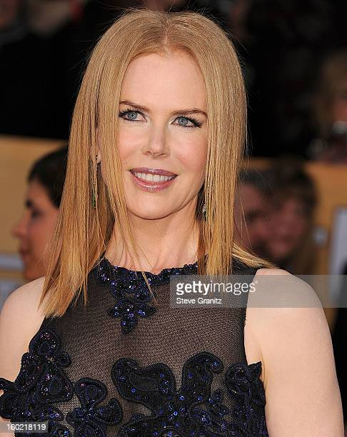 Nicole Kidman arrives at the 19th Annual Screen Actors Guild Awards at The Shrine Auditorium on January 27, 2013 in Los Angeles, California.