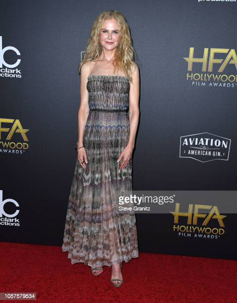 Nicole Kidman arrives at the 22nd Annual Hollywood Film Awards on November 4 2018 in Beverly Hills California