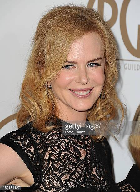 Nicole Kidman arrives at the 24th Annual Producers Guild Awards at The Beverly Hilton Hotel on January 26, 2013 in Beverly Hills, California.