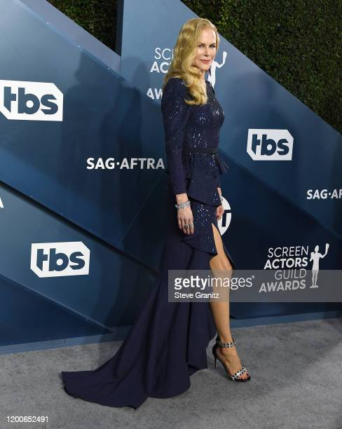 Nicole Kidman arrives at the 26th Annual Screen Actors Guild Awards at The Shrine Auditorium on January 19 2020 in Los Angeles California