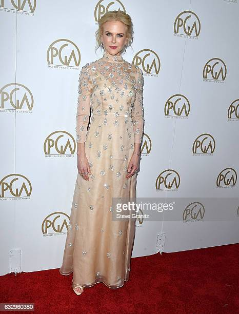 Nicole Kidman arrives at the 28th Annual Producers Guild Awards at The Beverly Hilton Hotel on January 28 2017 in Beverly Hills California