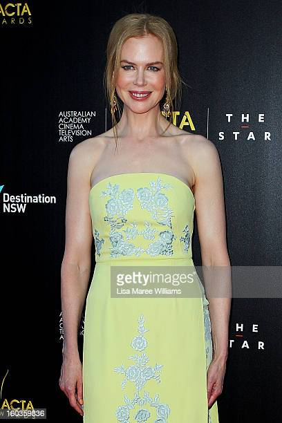 Nicole Kidman arrives at the 2nd Annual AACTA Awards at The Star on January 30 2013 in Sydney Australia