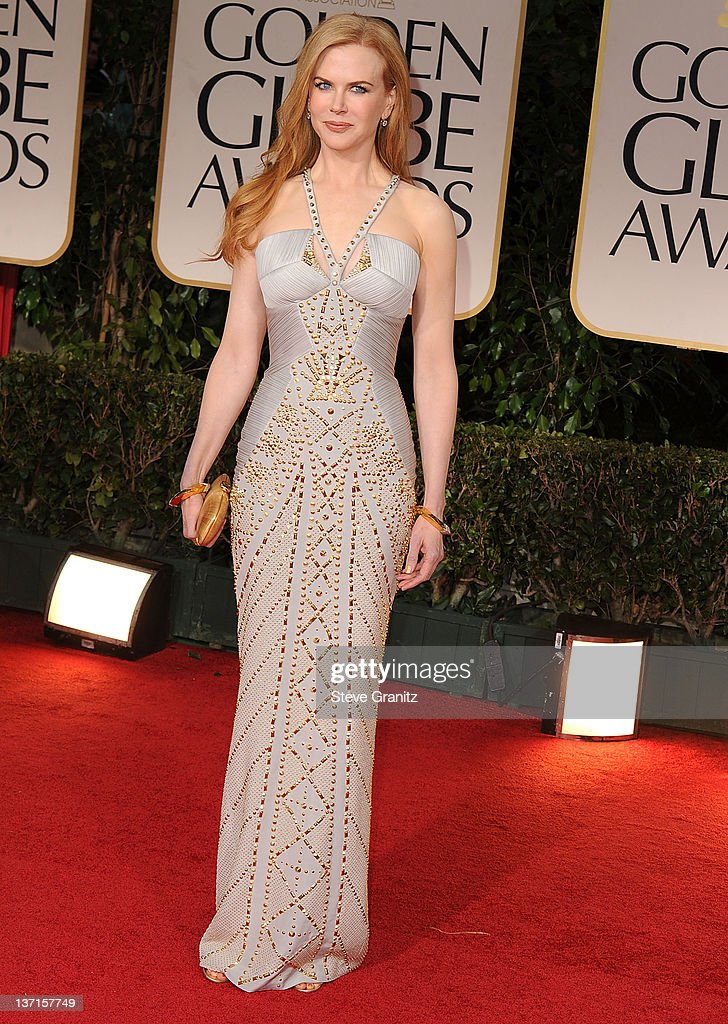 Nicole Kidman arrives at the 69th Annual Golden Globe Awards at The Beverly Hilton hotel on January 15, 2012 in Beverly Hills, California.
