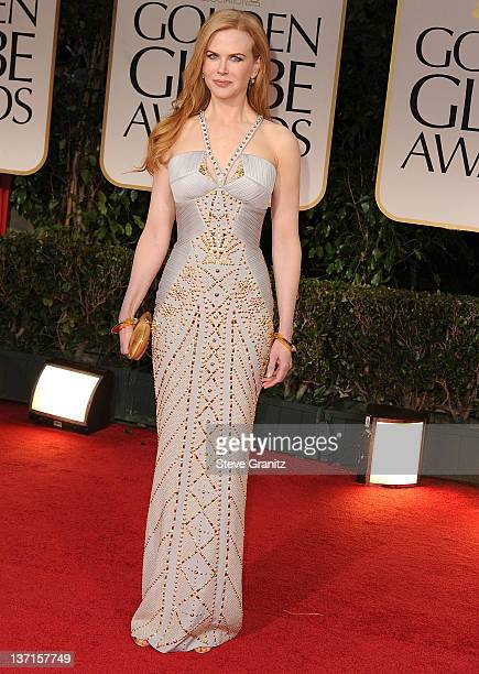 Nicole Kidman arrives at the 69th Annual Golden Globe Awards at The Beverly Hilton hotel on January 15 2012 in Beverly Hills California