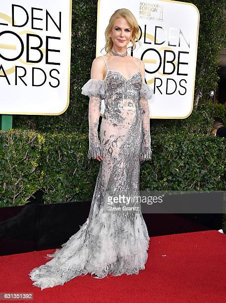 Nicole Kidman arrives at the 74th Annual Golden Globe Awards at The Beverly Hilton Hotel on January 8 2017 in Beverly Hills California