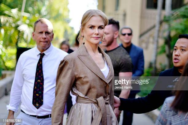 Nicole Kidman arrives at the 7th Annual Gold Meets Golden at Virginia Robinson Gardens and Estate on January 04 2020 in Los Angeles California