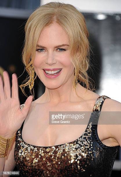 Nicole Kidman arrives at the 85th Annual Academy Awards at Dolby Theatre on February 24 2013 in Hollywood California