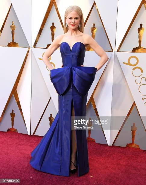 Nicole Kidman arrives at the 90th Annual Academy Awards at Hollywood Highland Center on March 4 2018 in Hollywood California