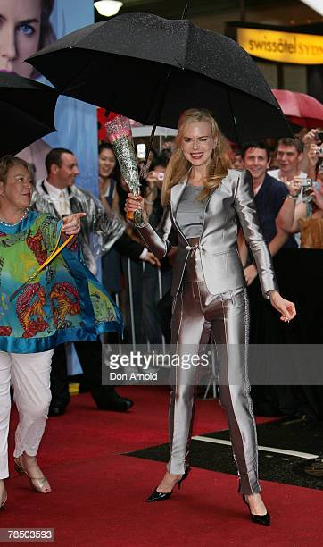 Nicole Kidman arrives at the Australian Premiere of 'The Golden Compass' at the State Theatre on December 16 2007 in Sydney Australia