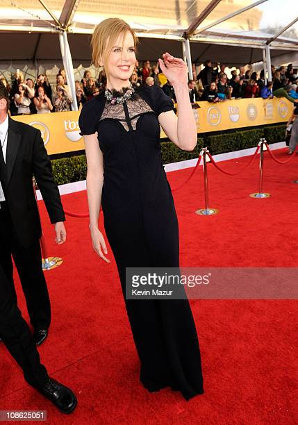 Nicole Kidman arrives at the TNT/TBS broadcast of the 17th Annual Screen Actors Guild Awards held at The Shrine Auditorium on January 30, 2011 in Los...