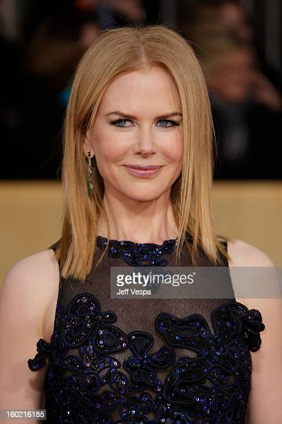 Nicole Kidman arrives at the19th Annual Screen Actors Guild Awards held at The Shrine Auditorium on January 27, 2013 in Los Angeles, California.