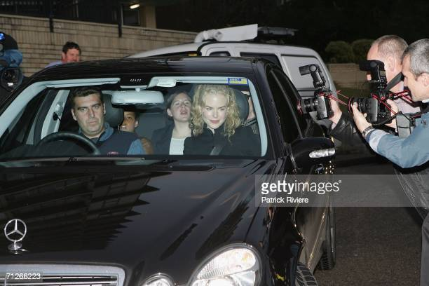 Nicole Kidman arrives back home with her children Isabella and Connor June 22 2006 in Sydney Australia
