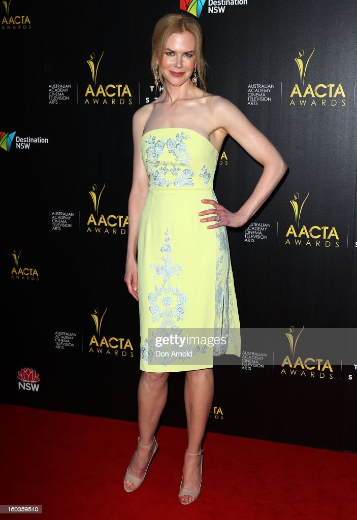 Nicole Kidman arrives for the 2nd Annual AACTA Awards at The Star on January 30, 2013 in Sydney, Australia.