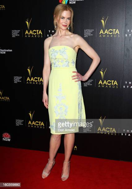 Nicole Kidman arrives for the 2nd Annual AACTA Awards at The Star on January 30 2013 in Sydney Australia