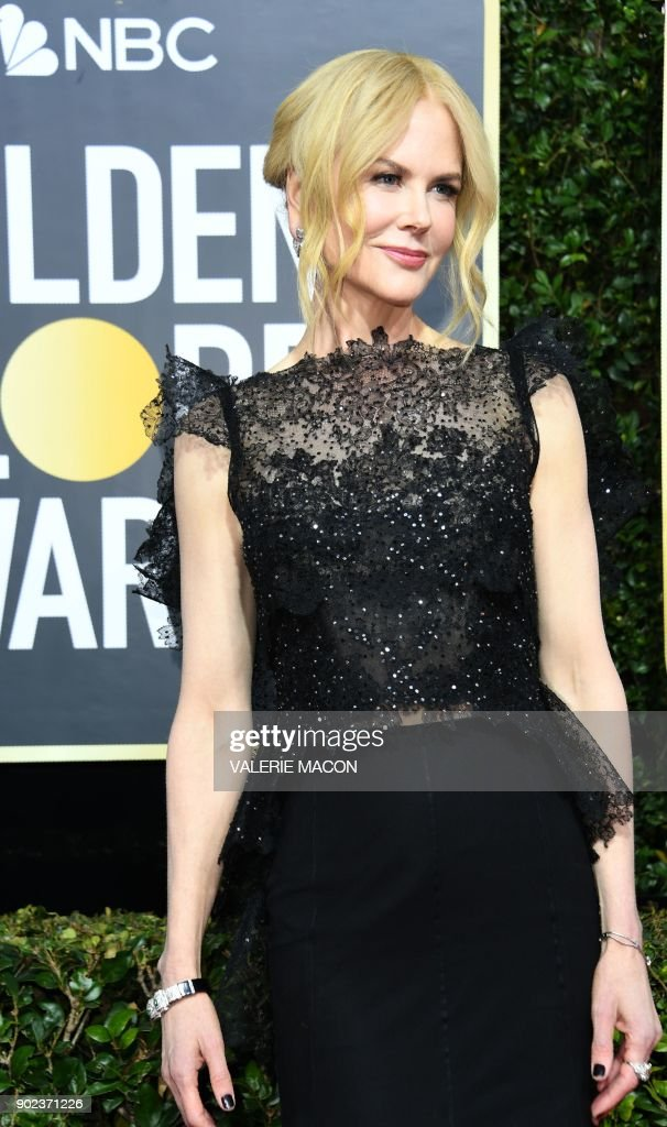 TOPSHOT - Nicole Kidman arrives for the 75th Golden Globe Awards on January 7, 2018, in Beverly Hills, California. /