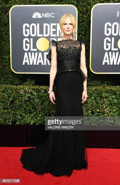 Nicole Kidman arrives for the 75th Golden Globe Awards on January 7 in Beverly Hills California / AFP PHOTO / VALERIE MACON