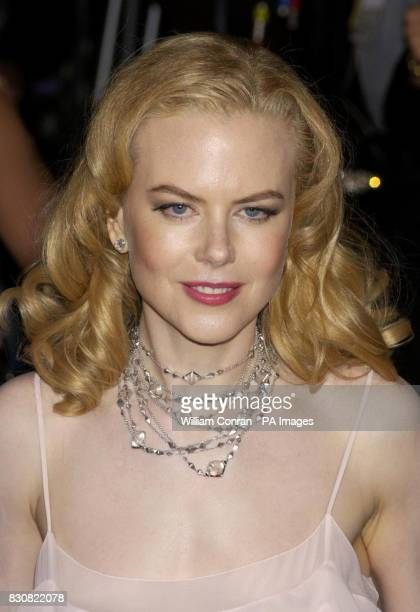 Nicole Kidman arriving at the Vanity Fair post Oscars party held at the Morton's restaurant in Los Angeles Her necklace is by Bulgari * Kidman is...