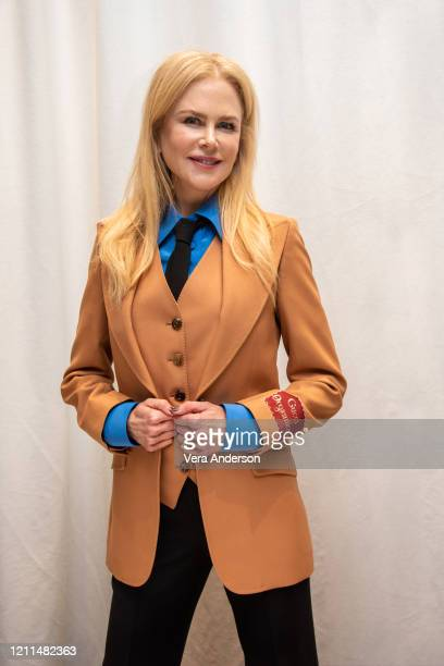 """Nicole Kidman at """"The Undoing"""" Press Conference at the Four Seasons Hotel on March 09, 2020 in Beverly Hills, California."""