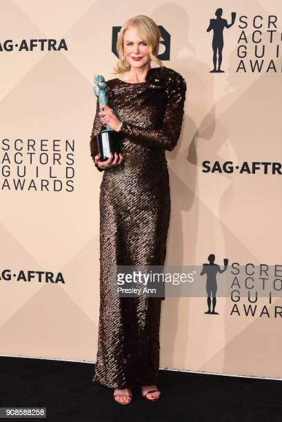 Nicole Kidman attends 24th Annual Screen Actors Guild Awards - Press Room on January 21, 2018 in Los Angeles, California.
