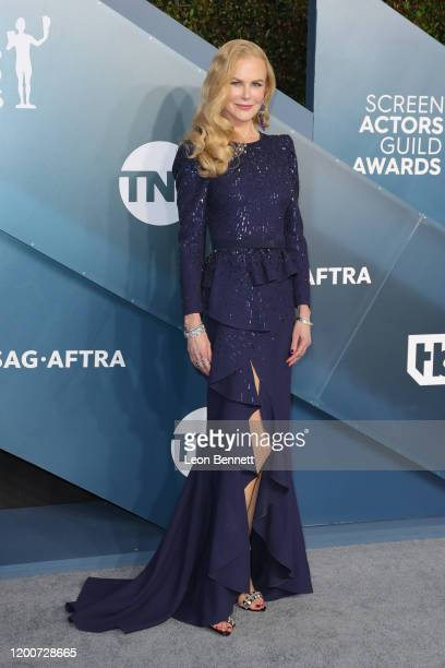 Nicole Kidman attends 26th Annual Screen Actors Guild Awards at The Shrine Auditorium on January 19, 2020 in Los Angeles, California.