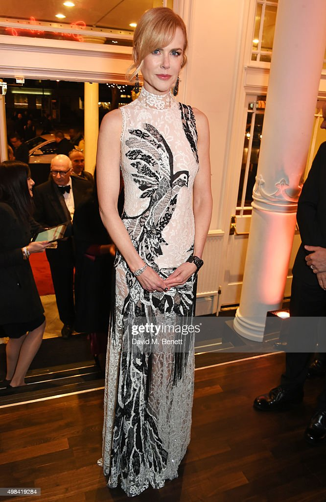 Nicole Kidman attends a champagne reception ahead of The London Evening Standard Theatre Awards in partnership with The Ivy at The Old Vic Theatre on November 22, 2015 in London, England.