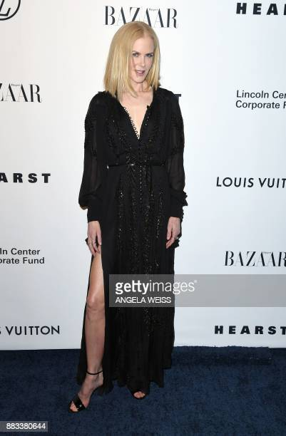Nicole Kidman attends 'An Evening Honoring Louis Vuitton and Nicolas Ghesquiere' at Alice Tully Lincoln Center on November 30 2017 in New York City /...