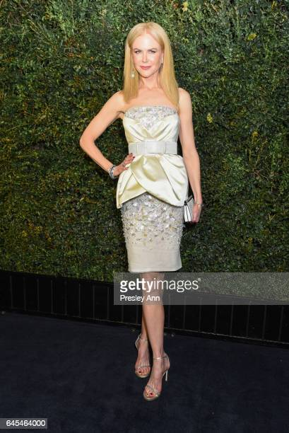 Nicole Kidman attends Charles Finch and CHANEL PreOscar Awards Dinner at Madeo Restaurant on February 25 2017 in Los Angeles California