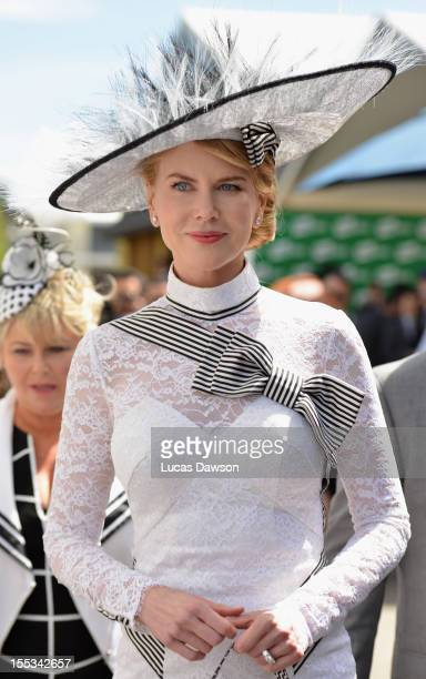 Nicole Kidman attends Derby Day at Flemington Racecourse on November 3 2012 in Melbourne Australia