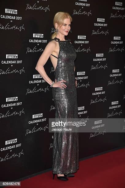 Nicole Kidman attends Pirelli Calendar 2017 by Peter Lindberg photocall at La Cite Du Cinema on November 29 2016 in SaintDenis France