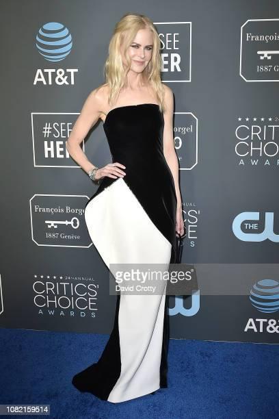 Nicole Kidman attends the 24th Annual Critics' Choice Awards Arrivals at Barker Hangar on January 13 2019 in Santa Monica California